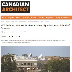 press hit in canadian architect magazine for taro hall