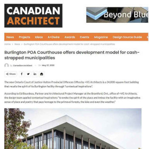 press hit in canadian architect magazine for burlington courthouse building