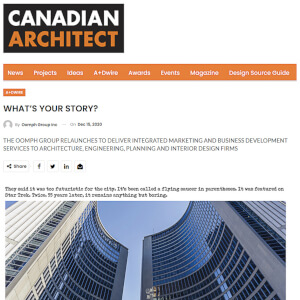 press hit in canadian architect magazine for oomph group