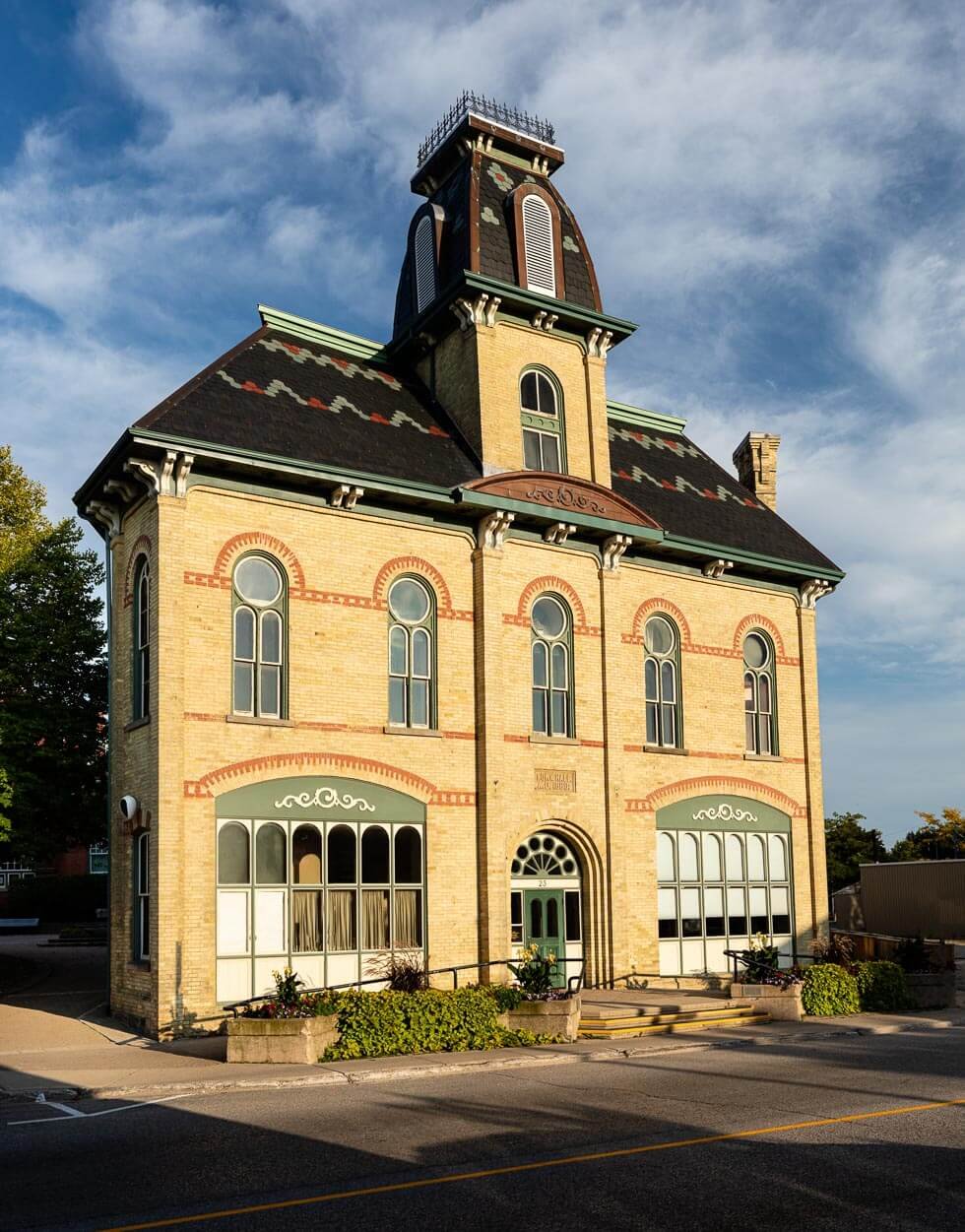 clinton town hall, clinton, ontario, photo by david lasker photography for david lasker communications