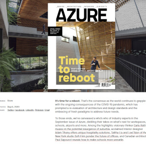 press hit in azure magazine titled time to reboot, thumbnail