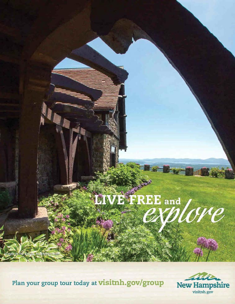 visit new hampshire tourism advertising campaign, castle in the clouds, moltonborough, new hampshire, photo by david lasker photography for david lasker communications