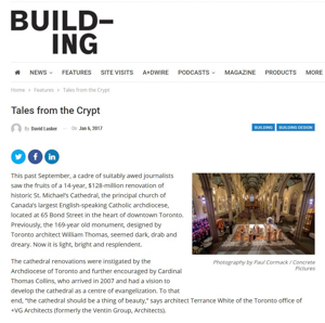 building magazine press hit titled tales from the crypt