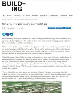 building magazine press hit titled new project targets empty nester market gap