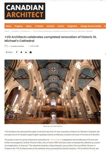 canadian architect magazine press hit st michaels cathedral