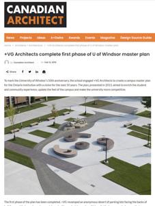 canadian architect magazine press hit university of windsor