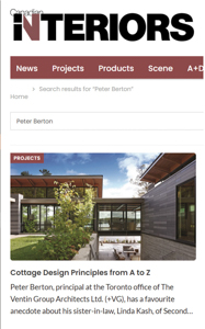 canadian interiors magazine press hit cottage design principles