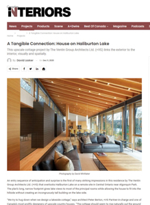 canadian interiors magazine press hit titled a tangible conneection