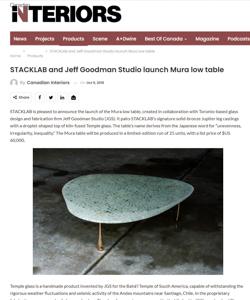 canadian interiors magazine press hit mura table