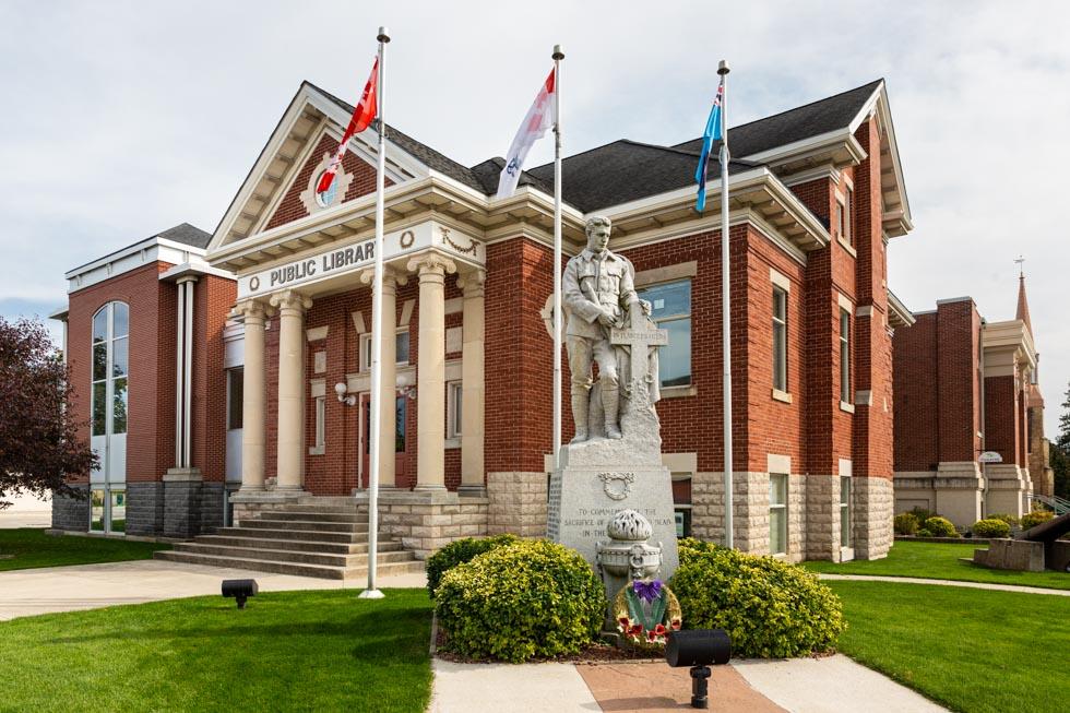 hanover town hall, hanover, ontario, photo by david lasker photography for david lasker communications