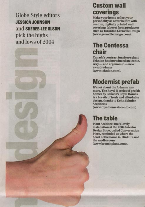 teknion contessa chair press hit in the globe and mail best design